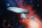 Star Trek Enterprise 1701-D painting image