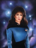 Star Trek Troi painting image